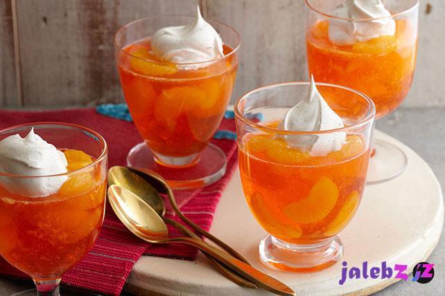طرز تهیه ژله نارنگی
