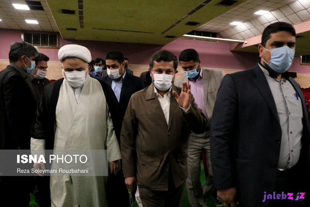 عکس/ مراسم تکریم از استاندار سابق خوزستان