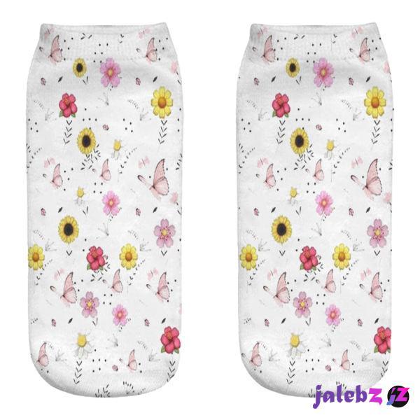 جوراب زنانه مدل گل و پروانه  کد 963 MMM