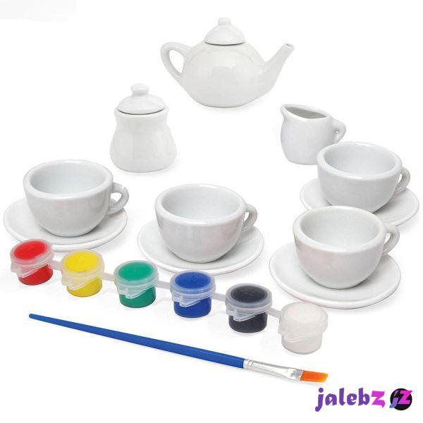 ست اسباب بازی چایخوری مدل رنگ آمیزی کد 125