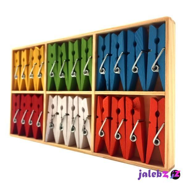گیره دکوری چوبی 24 عددی