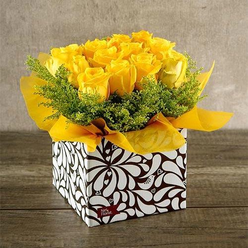 عکس باکس گل رز زرد