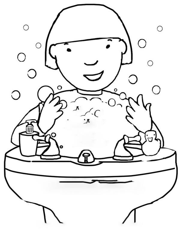 انواع نقاشی شستشوی دستها برای بهداشت فردی کودکان برای رنگآمیزی