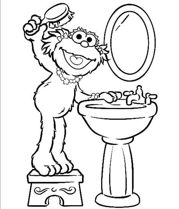 نقاشی کارتونی شانه زدن موسی سر برای کودکان برای رنگآمیزی