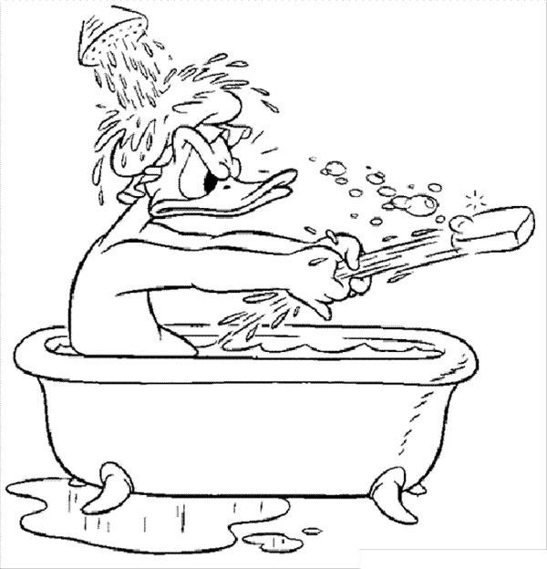 نقاشی حمام کردن برای بهداشت فردی کودکان برای رنگآمیزی