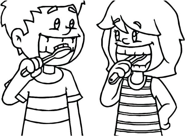 انواع نقاشی مسواک زدن برای رعایت بهداشت فردی کودکان برای رنگآمیزی