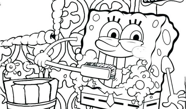 نقاشی مسواک زدن باب اسفنجی برای بهداشت فردی