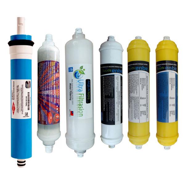 فیلتر دستگاه تصفیه کننده آب  مدل SPARE FILTER - 6M مجموعه 6 عددی