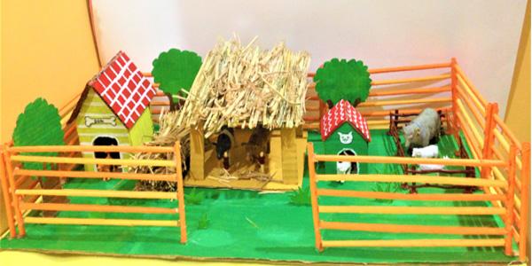 پناهگاه حیوانات اهلی برای ساخت کاردستی برای مدرسه