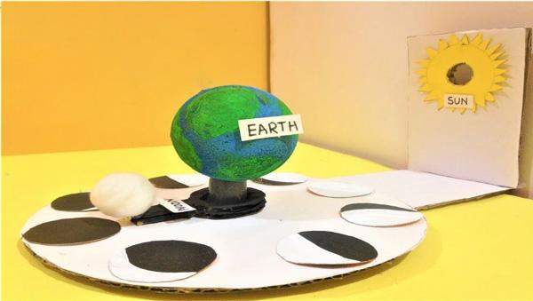 مدل خورشید گرفتگی برای ساخت کاردستی برای مدرسه