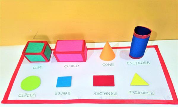 ساخت شکلهای هندسی برای کاردستی مدرسه