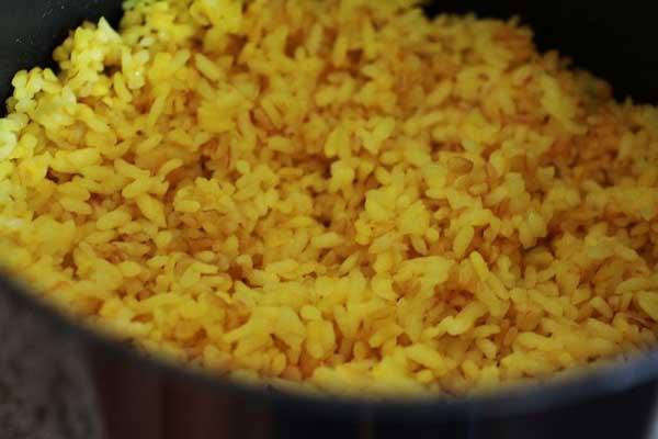 برنج و بلغور پخته