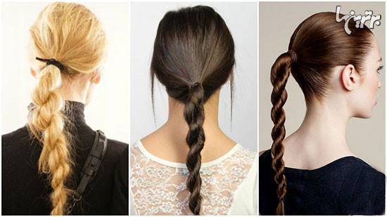 9 مدل موی ساده برای مو بلندها