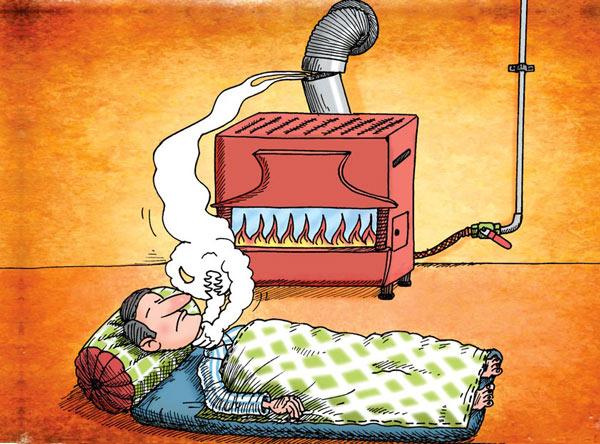 تست دودکش بخاری - اتصال نامناسب لوله دودکش بخاری