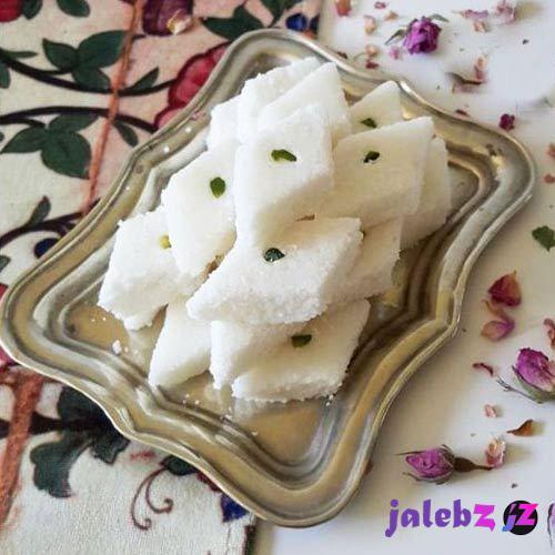 طرز تهیه لوز نارگیلی یک شیرینی فوق العاده عالی