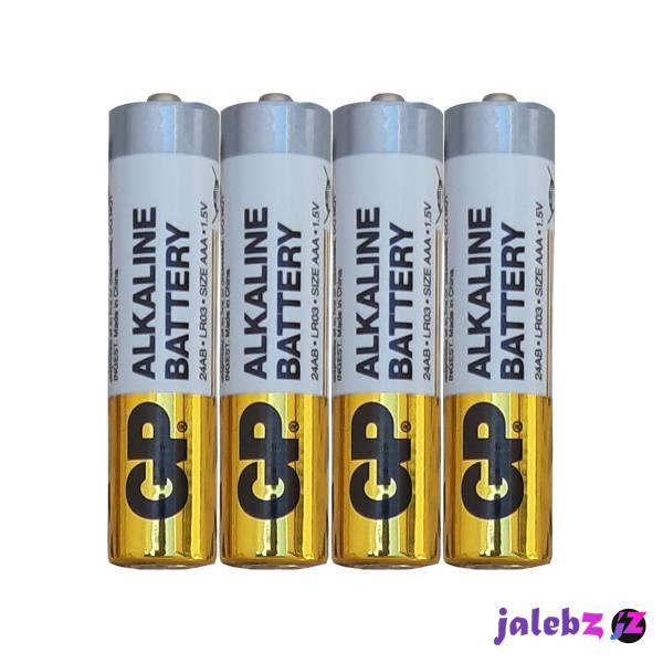 باتری نیم قلمی جی پی مدل 24 ای بی بسته چهار عددی