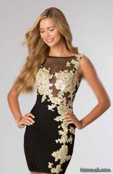 مدل لباس مجلسی دانتل 2015