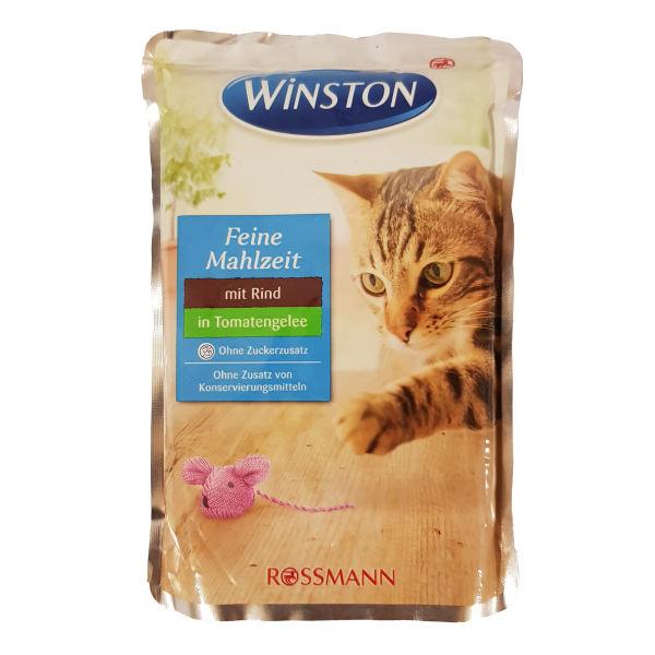 غذای پوچ گربه وینستون مدل Rind inTomatengelee وزن 100 گرم