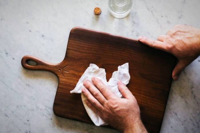 تمیز کردن تخته گوشت