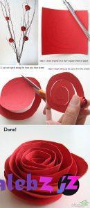 آموزش تصویری ساخت گل کاغذی - 10 مدل بسیار زیبا