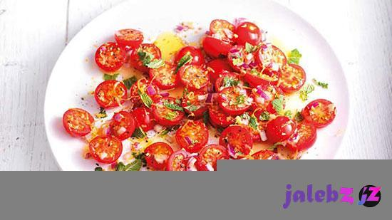 طرز سالاد گوجه گیلاسی و نعنا