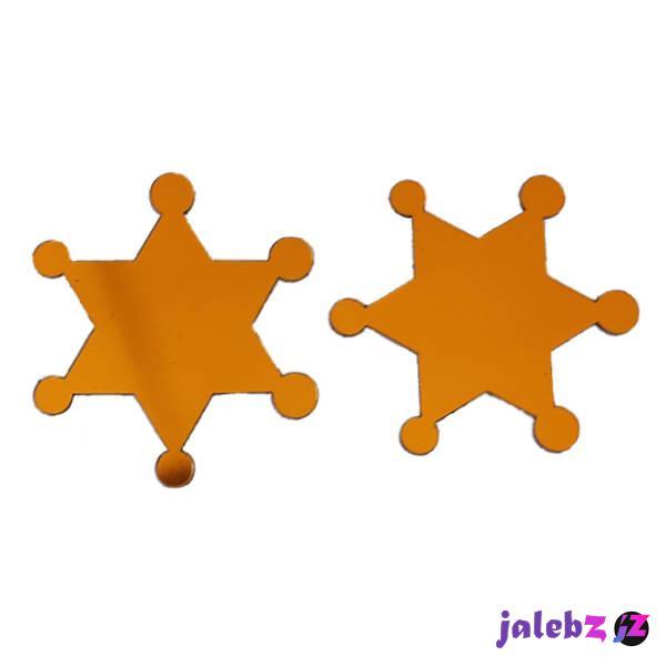 آینه پلکسی گلس سانا مدل ستاره ها مجموعه دو عددی