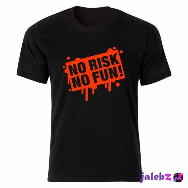 تی شرت آستین کوتاه زنانه مدل نوشته ریسک vn132