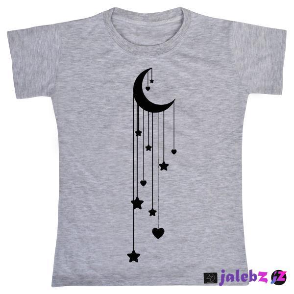 تی شرت دخترانه 27 مدل ماه و ستاره کد V122