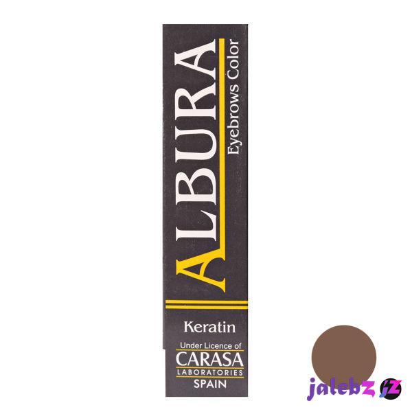 رنگ ابرو آلبورا مدل carasa شماره 2 حجم 15 میلی لیتر رنگ قهوه ای تیره