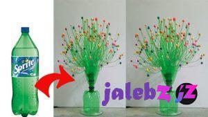 کاردستی درخت گل با بطری پلاستیکی