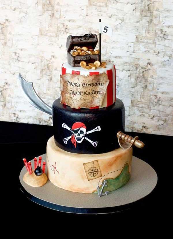 کیک تولد پسرانه دزد دریایی 2020