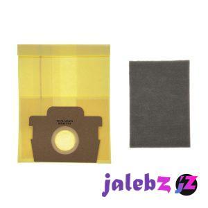 کیسه جاروبرقی مدل 2100w مناسب برای جاروبرقی تفال بسته 5 عددی به همراه یک عدد فیلتر