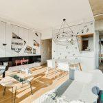 برش های هندسی هنری و جذاب در دیزاین آپارتمان