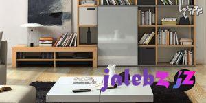 قفسه های دیواری مختلف برای اتاق نشیمن