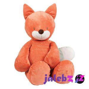 عروسک طرح روباه مدل happy fox ارتفاع 75 سانتی متر